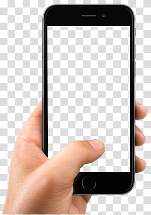 iPhone X Smartphone, Hand Holding Smartphone, person holding space gray iPhone 6 with white screen PNG