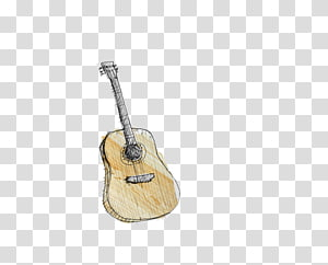 simple hand-painted guitar PNG