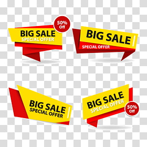 Big sale signage, Sales Banner Advertising, Colorful shopping sale banner template, discount sale banner collection set PNG