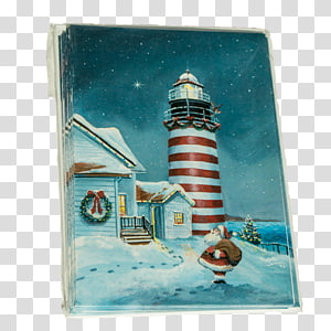 West Quoddy Head Light American Lighthouse Foundation Christmas card Rockland Breakwater Lighthouse, christmas PNG clipart