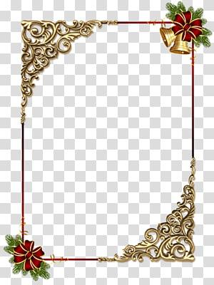 gold decorative frame PNG