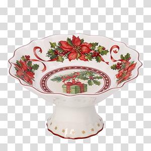 Villeroy & Boch Toy s Fantasy Vase / Gift Bag Fantasy Footed Bowl Multicolour 17 centimeter Christmas Day, porcelain bowl PNG