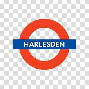 red and blue Harlesden logo, Harlesden PNG
