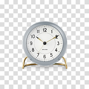 AJ Table Clock LK with alarm Arne Jacobsen Station Alarm Clock AJ Table Clock alarm Alarm Clocks, clock PNG clipart