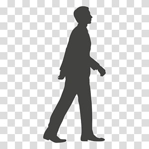 silhouette male , Silhouette Walk cycle, walking PNG clipart
