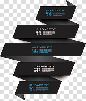 black background with your sample text overlay, Chart 3D computer graphics, PPT element PNG clipart