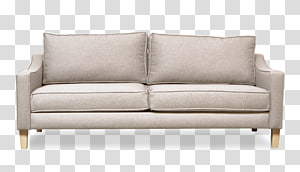 Loveseat Couch Sofa bed Furniture, white sofa PNG