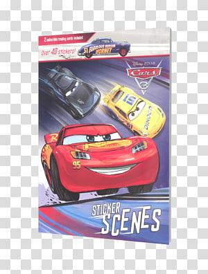 Lightning McQueen Cars 3. Gran libro de la película Cars 3. Disney presenta Pixar, mattel toys disney cars cars 3 wally hauler exclus PNG clipart
