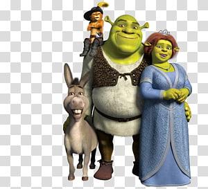 Shrek family Illustration, Princess Fiona Donkey Shrek The Musical Lord Farquaad, shrek PNG