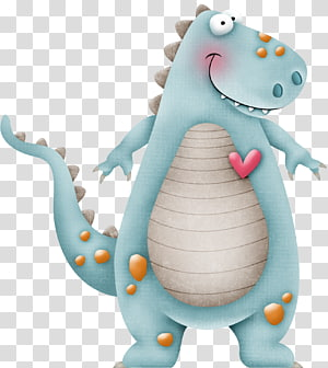 blue small dinosaur PNG clipart