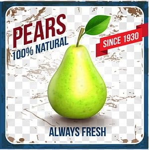 Ice cream Pear Fruit, pear fruit PNG