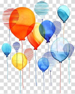 illustration of balloons, balloon PNG clipart
