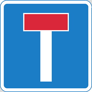 Road Traffic sign Dead end Traffic sign, road PNG