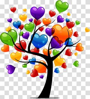Birthday cake Wish Greeting card Wedding invitation, Love trees PNG clipart