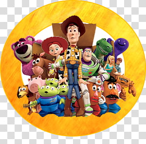 Toy Story characters against blue background, Buzz Lightyear Sheriff Woody Andy Toy Story 3: The Video Game, toy story PNG clipart