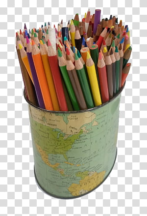 Globe Colored pencil Pen & Pencil Cases, pen in the color of lead PNG clipart