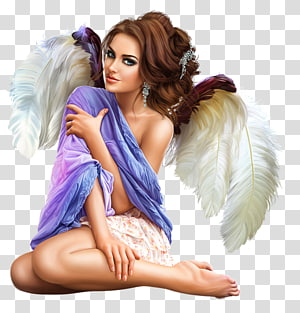 angel illustration, 3D computer graphics Diary Woman Girl, fantasy women PNG
