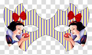 Snow White Party Mask Disney Princess Seven Dwarfs, the incredibles PNG clipart