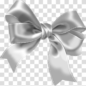 Bow and arrow Ribbon , grey ribbon PNG