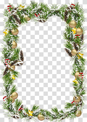 Christmas ornament Frames Christmas decoration , pine cone PNG
