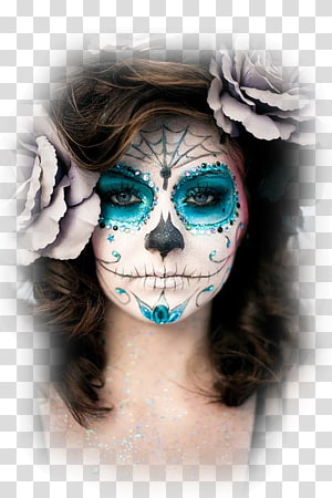 La Calavera Catrina Day of the Dead Costume Cosmetics, mask ad PNG