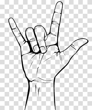 Sign of the horns Drawing, Rock N Rule PNG