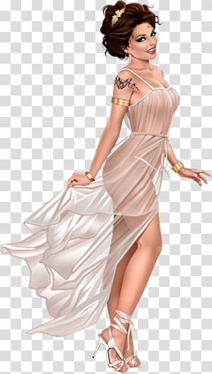Dress Fashion Gown Pin-up girl, L PNG