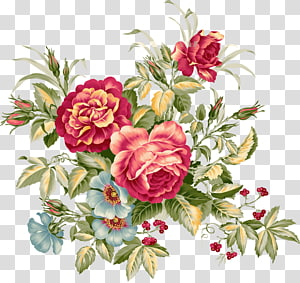 red-and-yellow flowers , Paper Flower bouquet Garden roses Watercolor: Flowers, peony PNG
