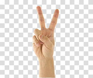 Thumb Gesture V sign Finger, The direction of the finger gestures. PNG clipart