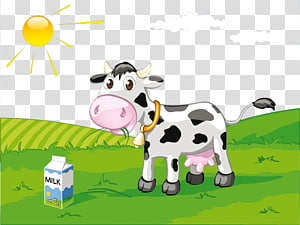 grazing cows PNG clipart