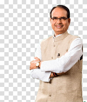 man wearing brown vest, Shivraj Singh Chouhan Bhopal Chief Minister Bharatiya Janata Party Uttar Pradesh, party people PNG