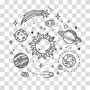 Drawing Doodle Sketch, planet PNG clipart