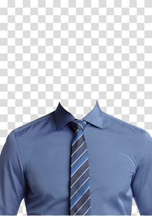 men's blue dress shirt and blue and gray necktie, T-shirt Dress shirt Suit Necktie, T-shirt PNG