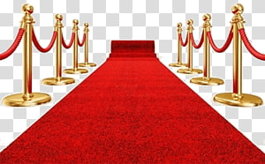 red carpet and stanchion post illustration, Red Carpet PNG clipart