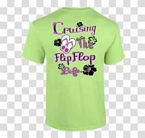 T-shirt CruiseMyTee Green Sleeve, T-shirt PNG clipart