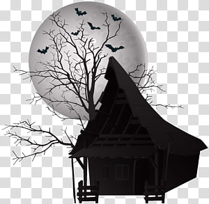 Haunted house , scary PNG clipart