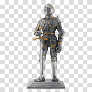 Middle Ages Knight Statue Figurine Sculpture, Knight PNG
