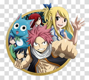 Fairy Tail characters, Gray Fullbuster Erza Scarlet Wendy Marvell Natsu Dragneel #1 Lucy Heartfilia, Fairy Tail PNG clipart
