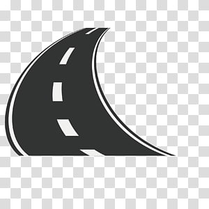 Road Asphalt, Bend the road PNG clipart
