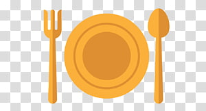 brown spoon, fork, and plate , Knife Fork Plate Tableware, Cutlery fork knife plate PNG