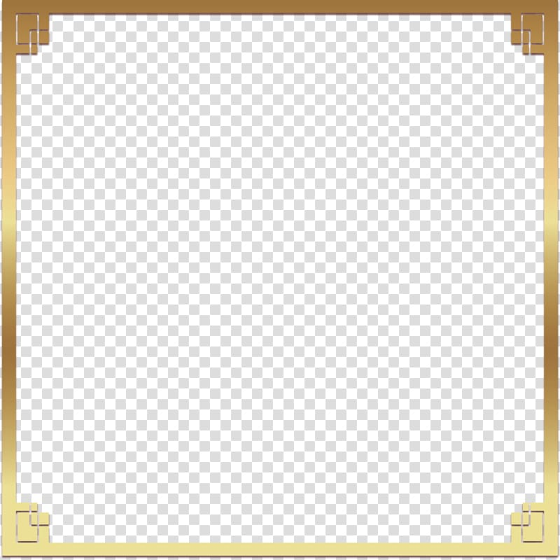 square gold-colored frame illustration, Square Angle Yellow Pattern, golden square frame PNG clipart