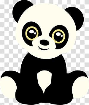 Giant panda Bear , cute PNG