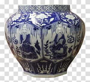 Blue and white pottery Ceramic Vase Porcelain, the blue and white porcelain PNG clipart