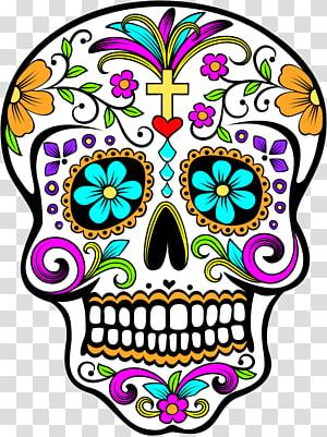 La Calavera Catrina Mexico Day of the Dead Death, skull PNG