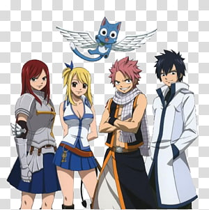 Fairy Tail , Natsu Dragneel #1 Erza Scarlet Gray Fullbuster Lucy Heartfilia Fairy Tail, Fairy Tail HD PNG clipart