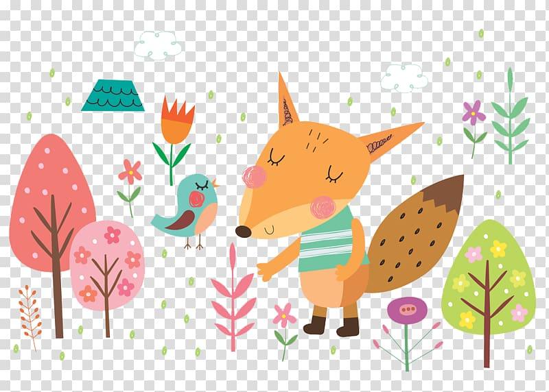 orange fox PNG