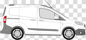 Ford Tourneo Courier Van Car Ford Motor Company, ford courier PNG