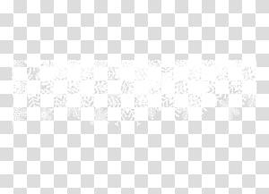 White Black Pattern, Decorative snowflake top border PNG