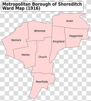 Metropolitan Borough of Shoreditch Metropolitan boroughs of the County of London Ossulstone, London map PNG clipart