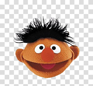 The Sesame Street Bert plush toy, Sesame Street Ernie Head PNG